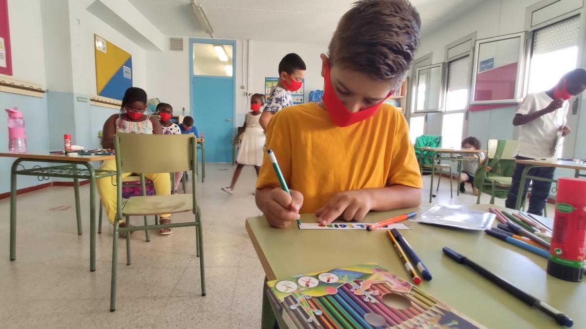 Alumnes d'una classe de primària a Catalunya, el passat dilluns