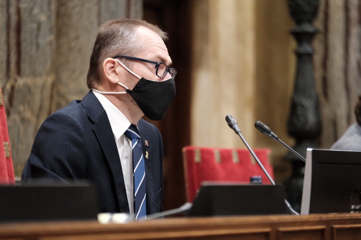 Josep Costa, durant el debat de política general.