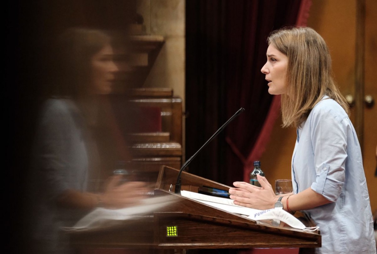 Jéssica Albiach, en un debat al Parlament de Catalunya