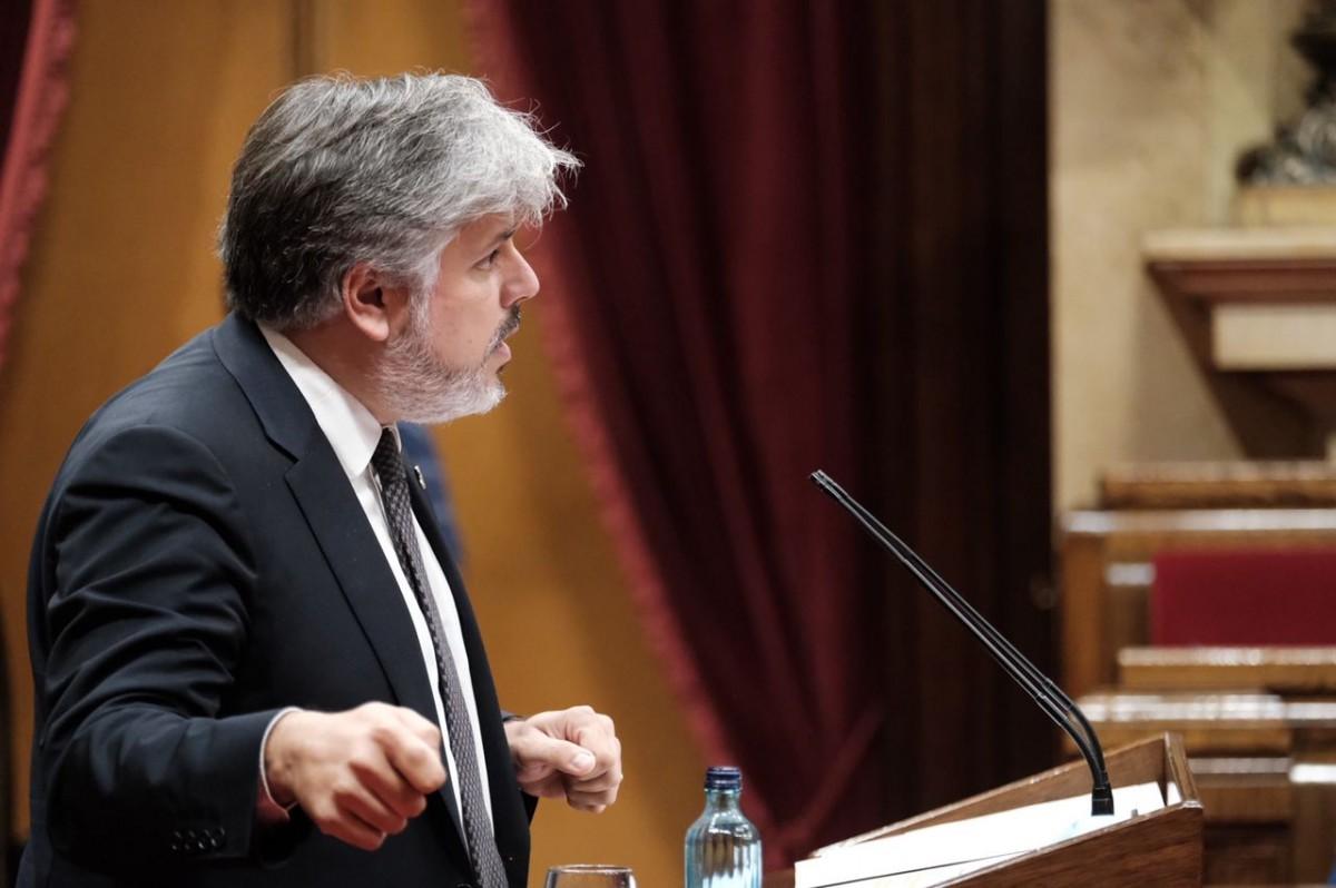 El president de JxCat al Parlament, Albert Batet, en una imatge d'arxiu.