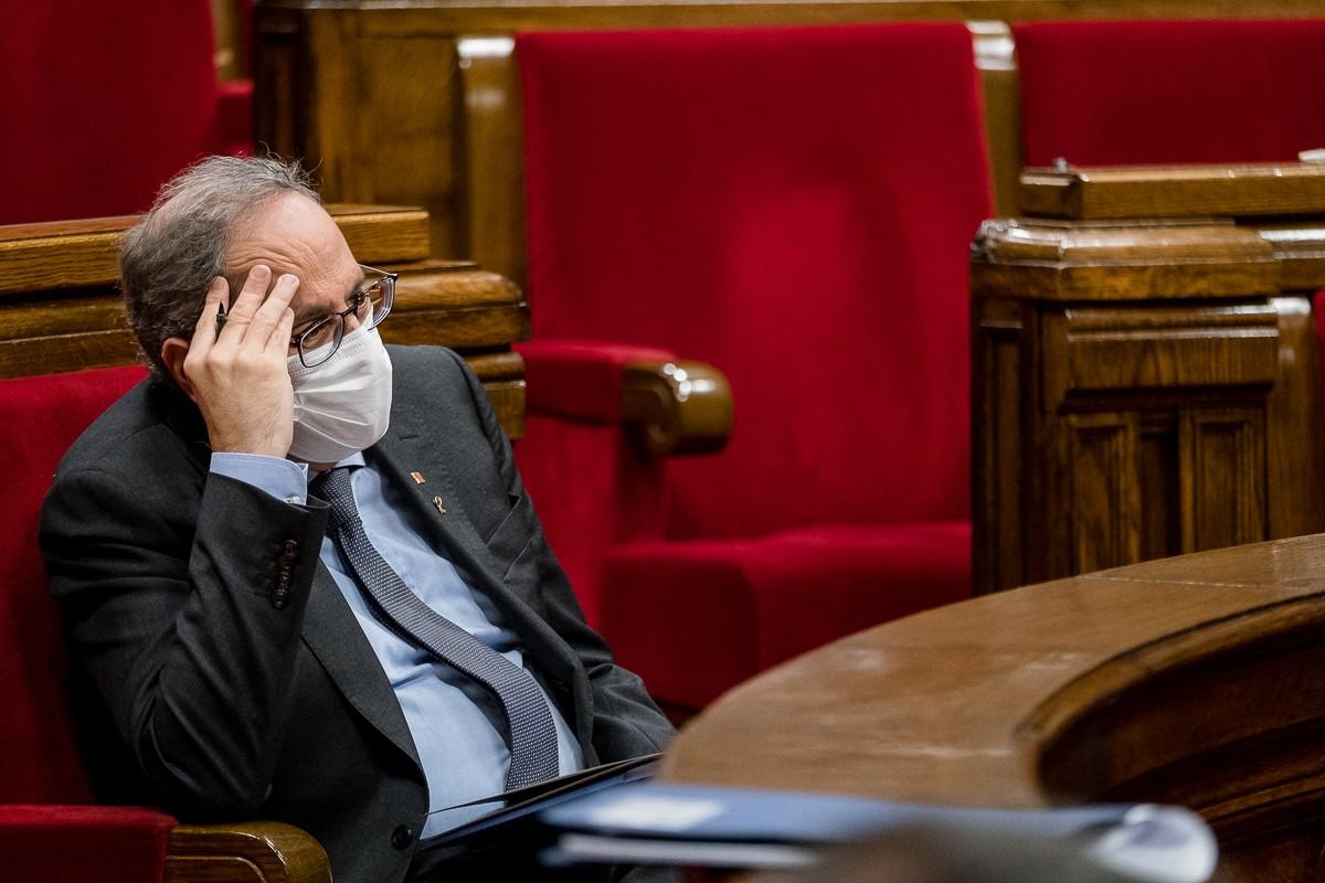 El president de la Generalitat, Quim Torra, al debat de política general.