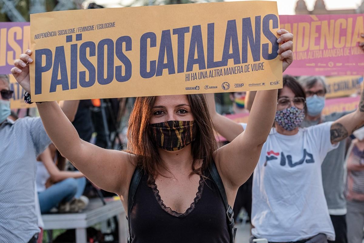 Manifestació de l'esquerra independentista al passeig Lluís Companys, el passat setembre