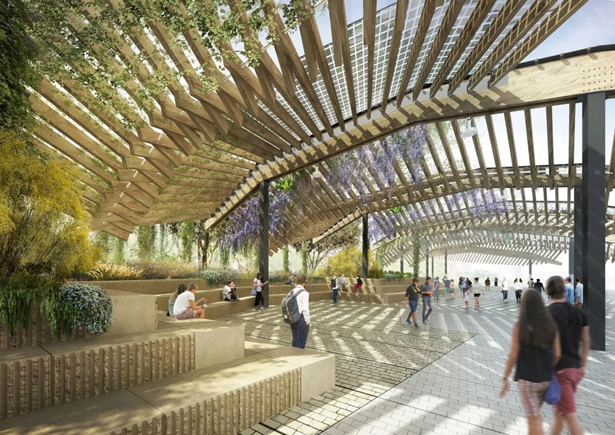 El projecte per col·locar pèrgoles fotovoltaiques al nou tram cobert de la ronda de Dalt.
