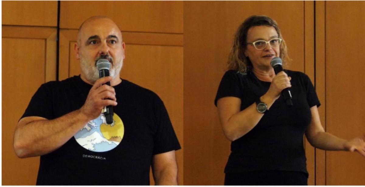 Jordi Alcover i Sílvia Naranjo durant la festa de presentació de La Guia de Vins 2020
