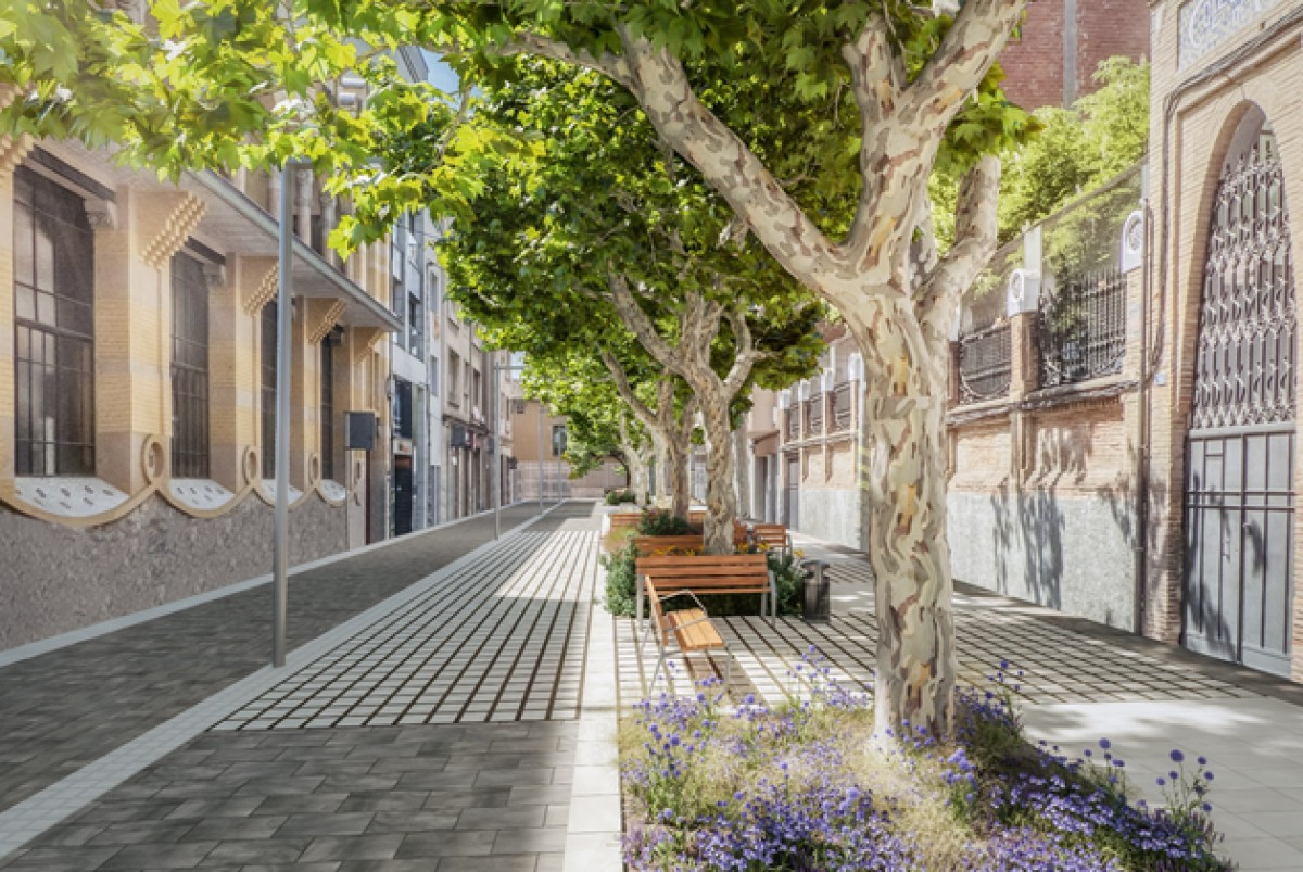 Imatge del projecte de vianització del carrer Indústria