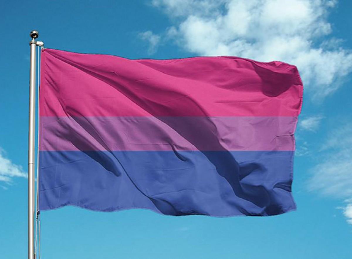 Bandera bisexual.