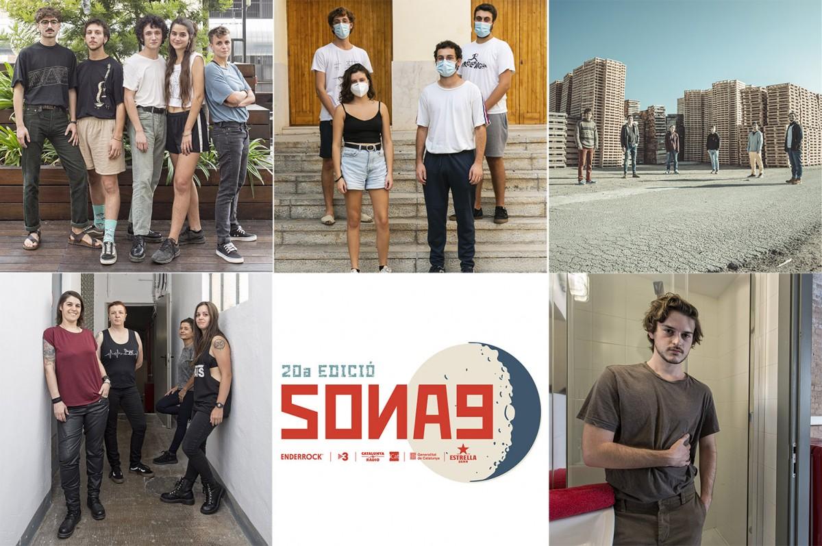 Els cinc semifinalistes del Sona9 2020: Les Buch, Lles, Reïna, Remei de Ca La Fresca i Efímer