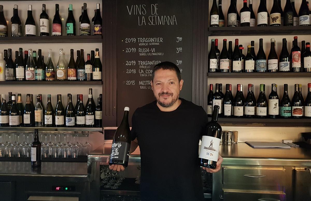 Francesc Nicolás al Vertigo Wine Bar.