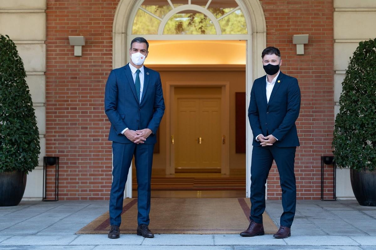Sánchez i Rufián a la Moncloa el passat 3 de setembre