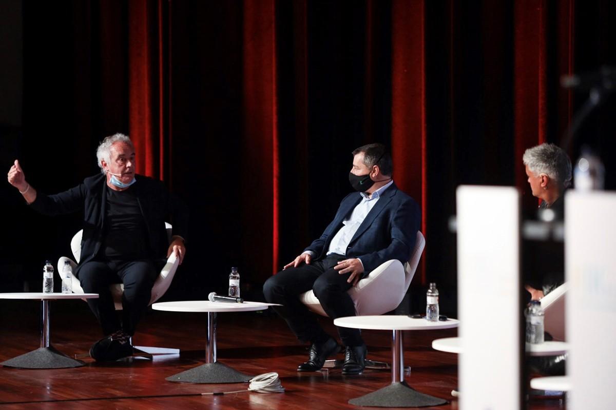 Ferran Adrià, Josep Roca i Nandu Jubany al Food & Hospitality, Tourism and Gastronomy Forum.