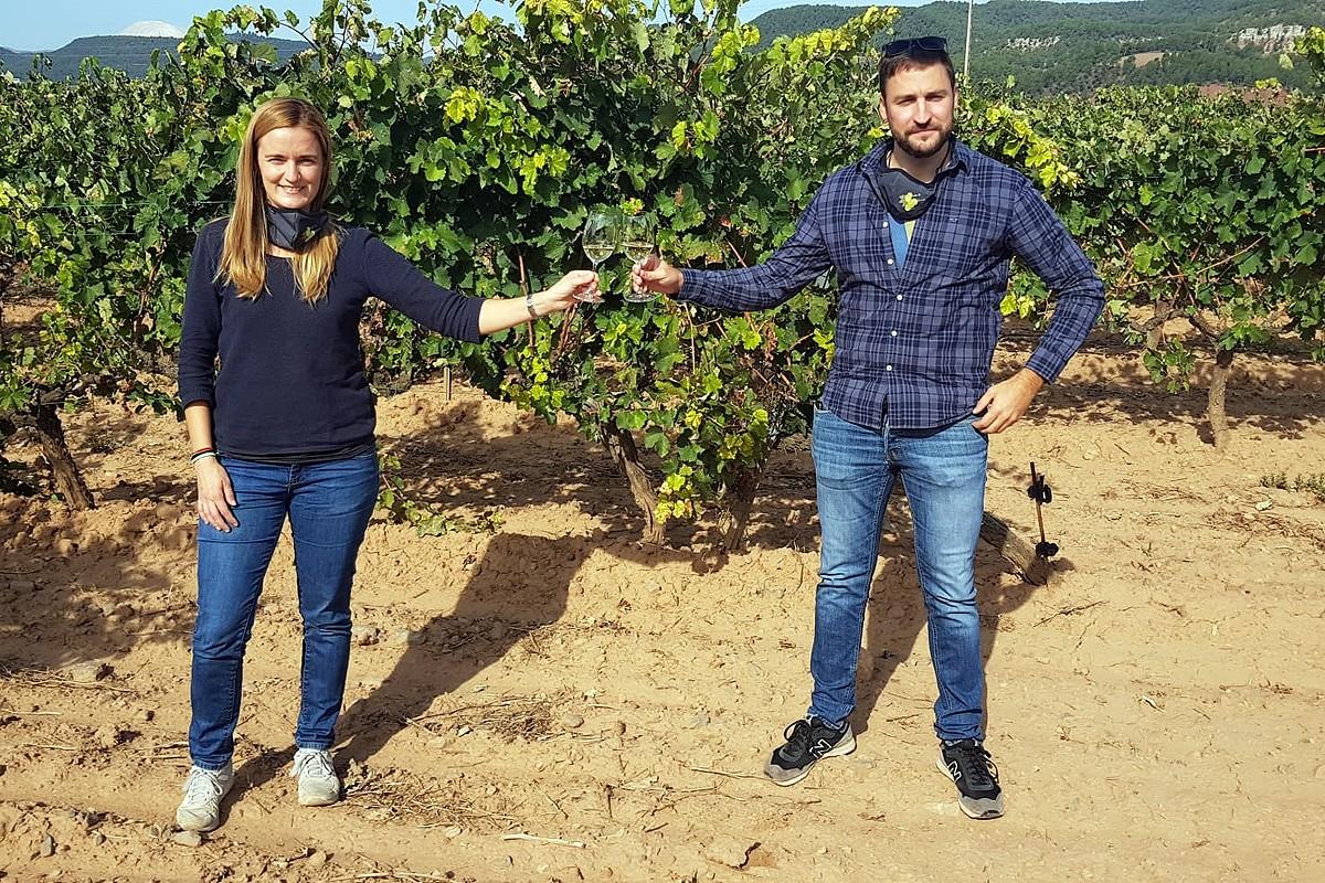Eva Ferrer i Enric Forcada brinden per la Festa de la Verema del Bages