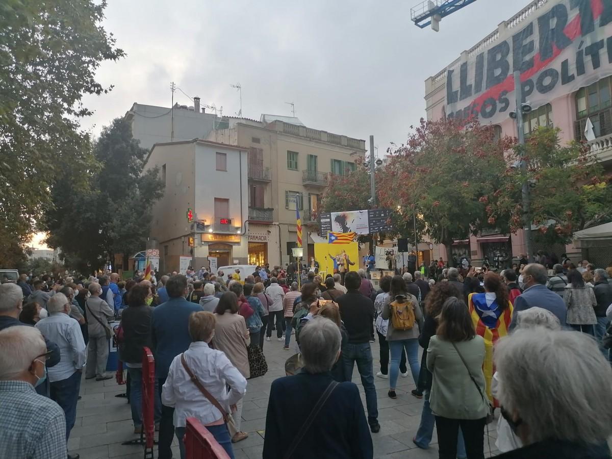 Acte unitari a Terrassa per la celebració dels tres anys de l'1 d'octubre.