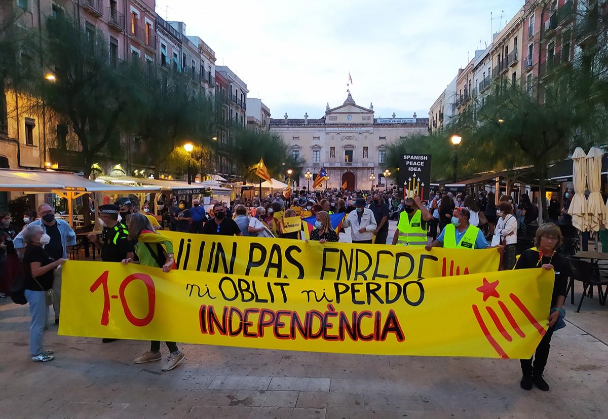 La manifestació ha sortit de la plaça de la Font.