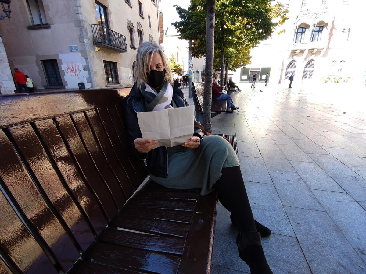 La Mercè, a la plaça de la Porxada