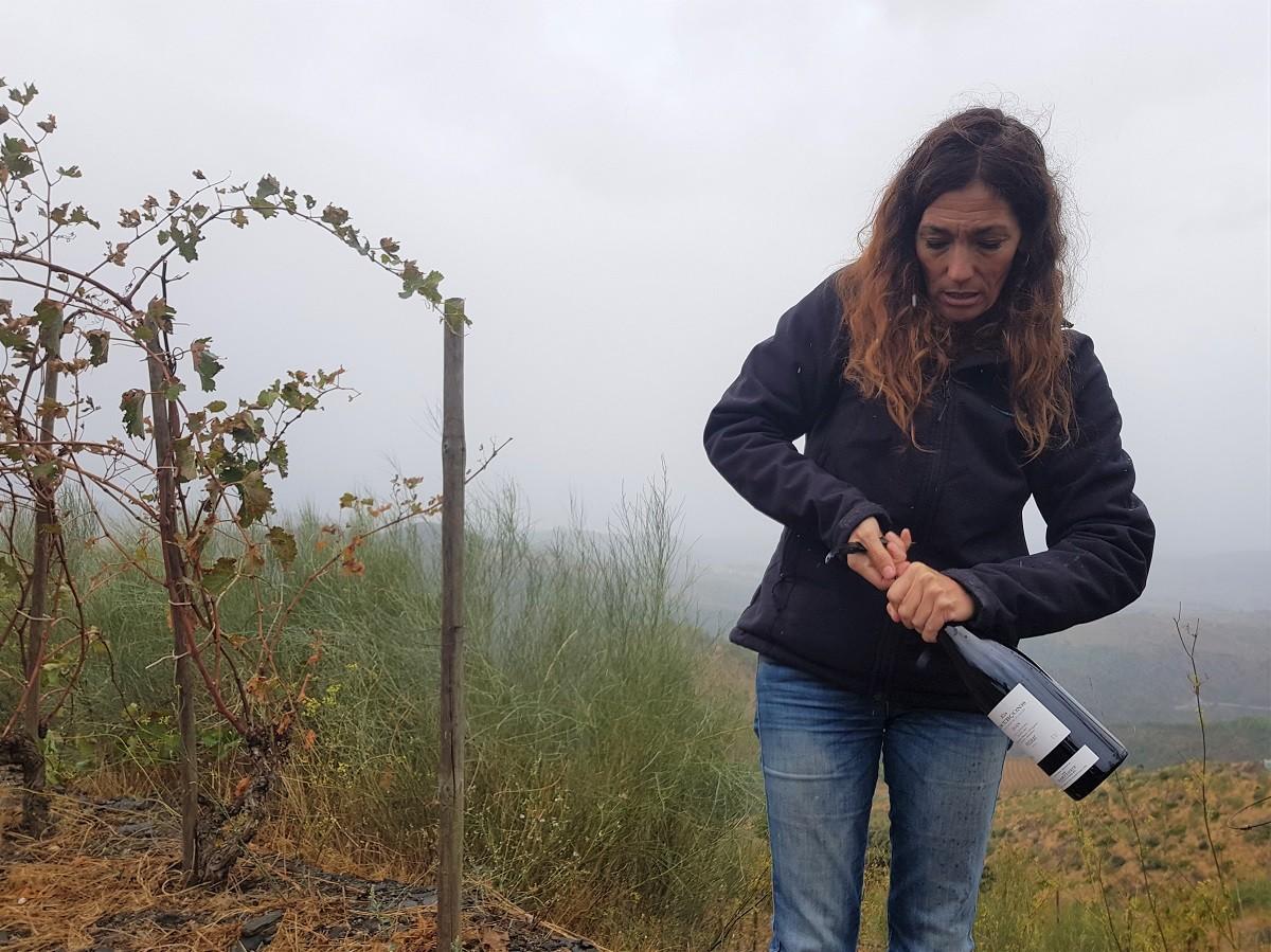 Sara Pérez a la finca Els Escurçons.