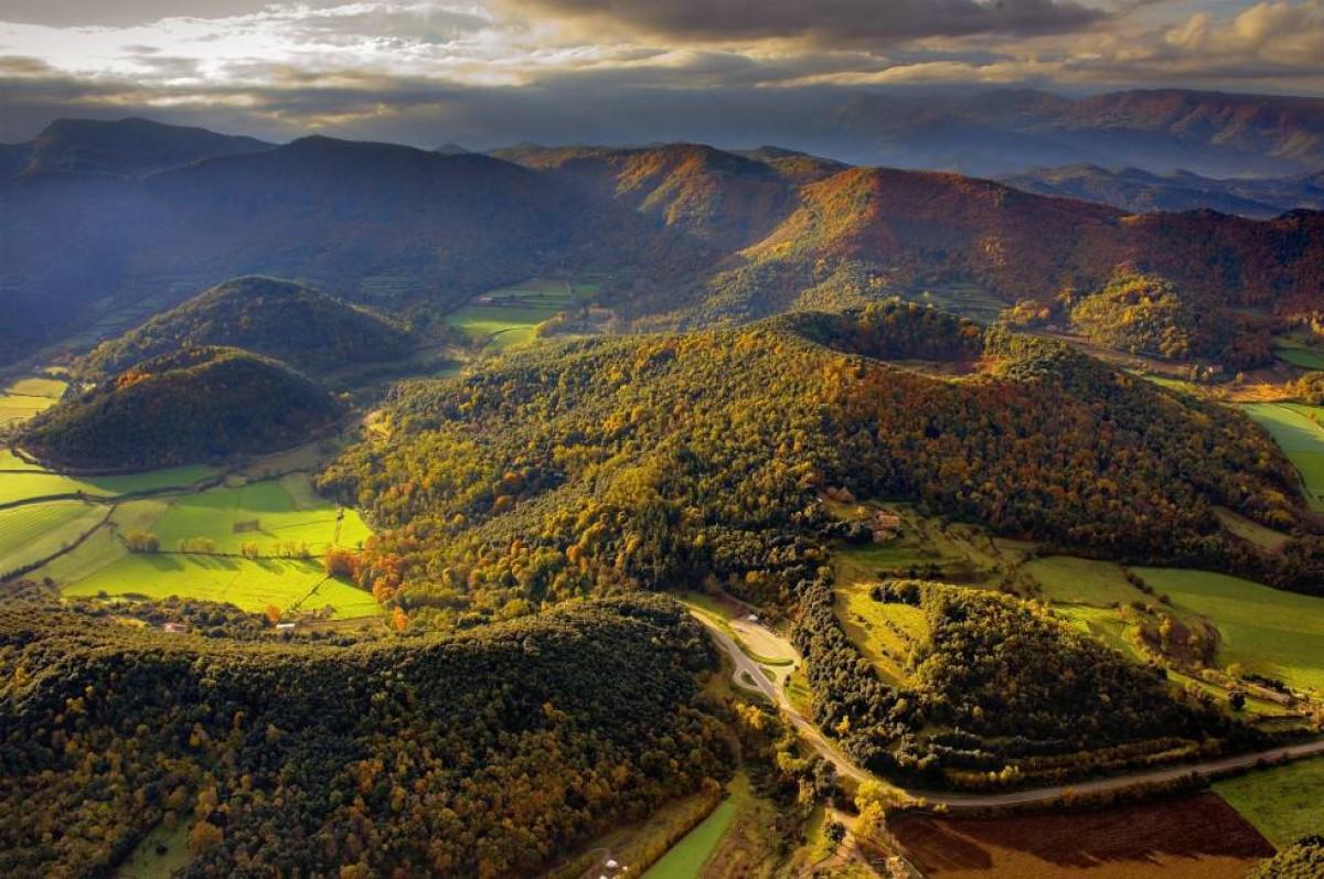 El Parc Natural de la Zona Volcànica de la Garrotxa.