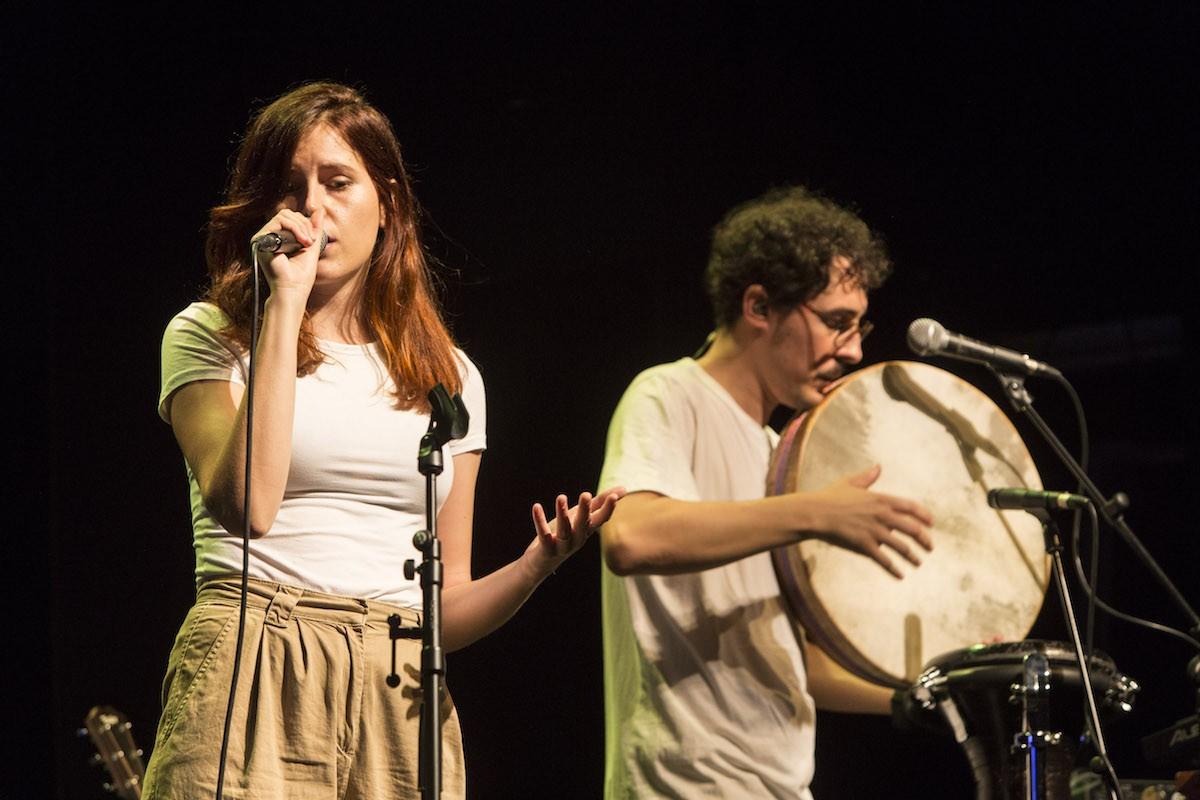 Laura Esparza i Carlos Esteban a l'escenari del Tradicionàrius