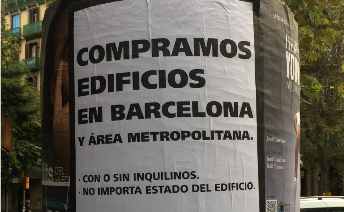 Imatge de l'anunci que es pot trobar per Barcelona