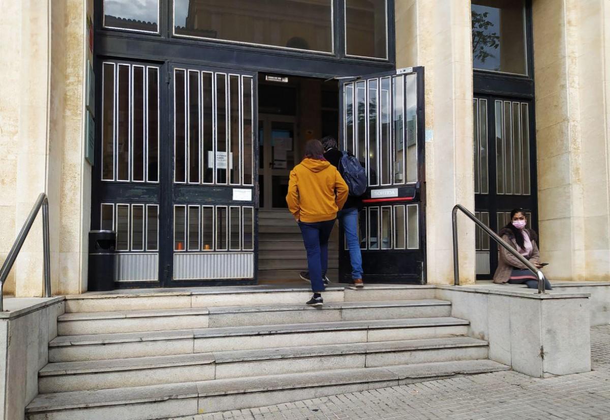 Fortuny i Perdiguero, entrant als jutjats aquest matí.