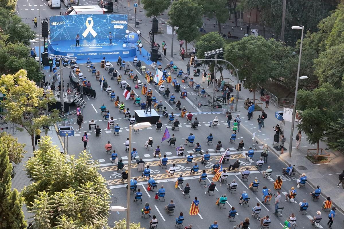 L'acte de l'ANC a la plaça Letamendi de Barcelona per la Diada