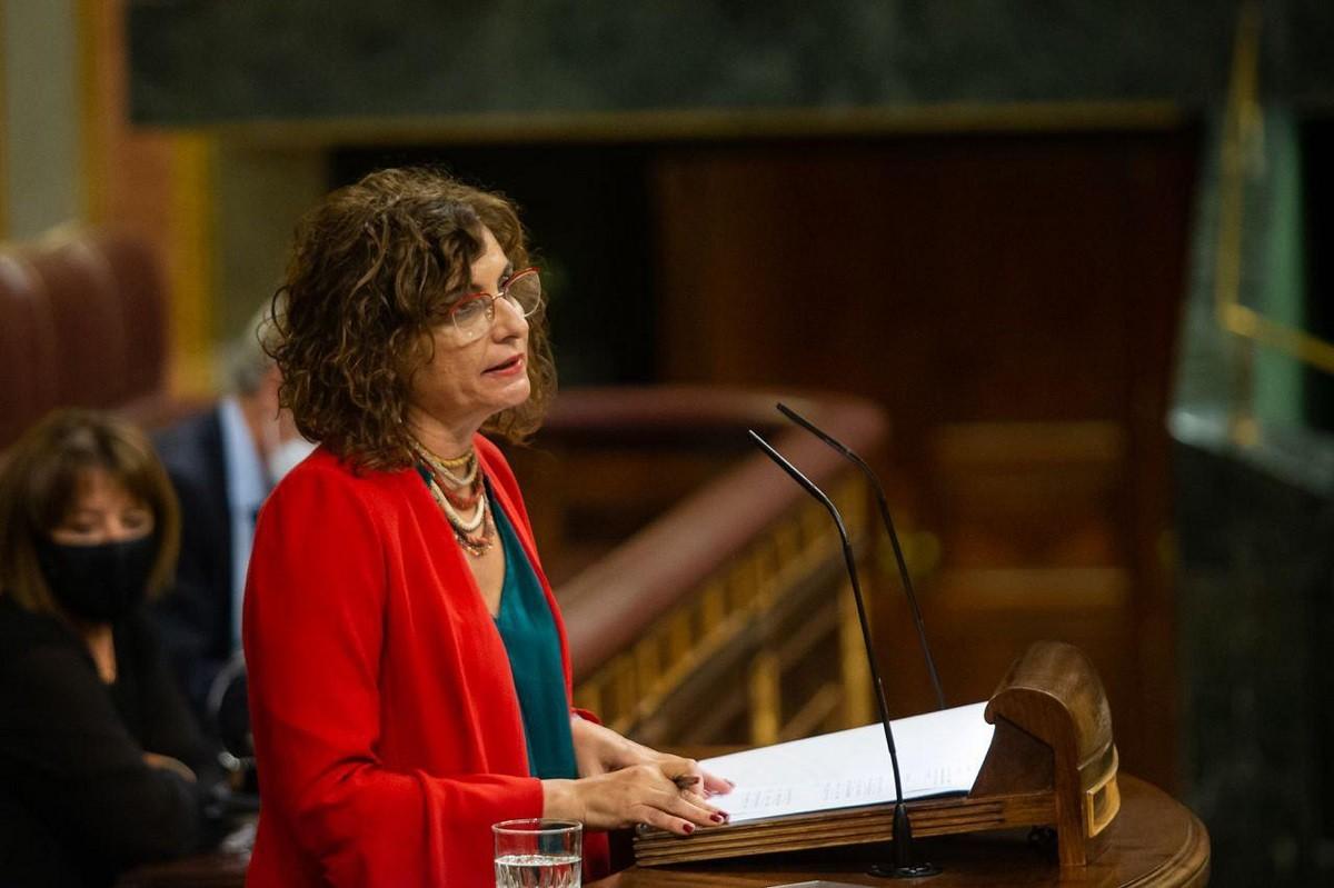 La ministra d'Hisenda, María Jesús Montero, aquest dimarts al Congrés