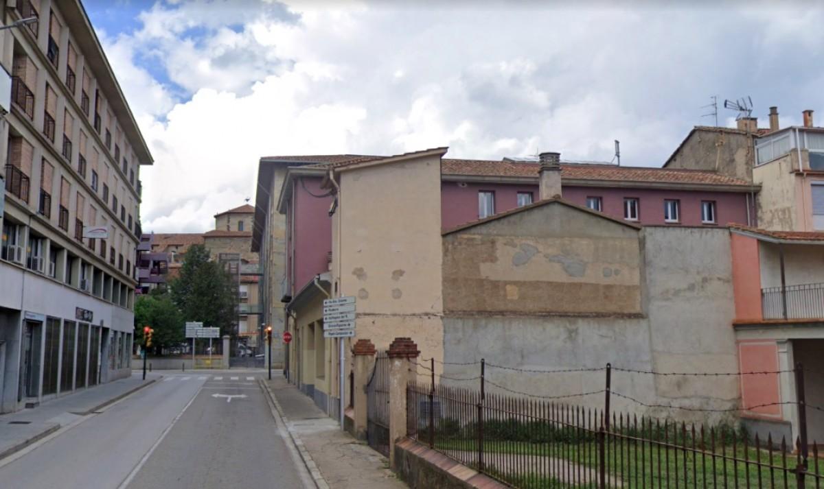 El carrer Marià Vayreda d'Olot.