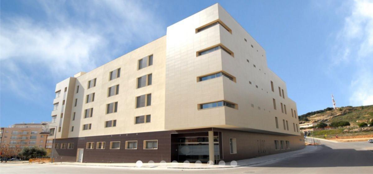 Façana de la residència VIMA de la Ràpita