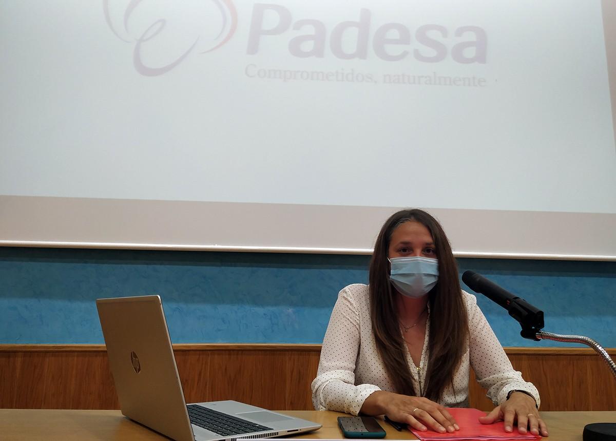 Eva Abancéns, portaveu de l'empresa Padesa.
