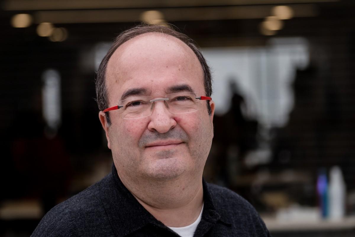 Miquel Iceta, durant l'entrevista amb NacióDigital