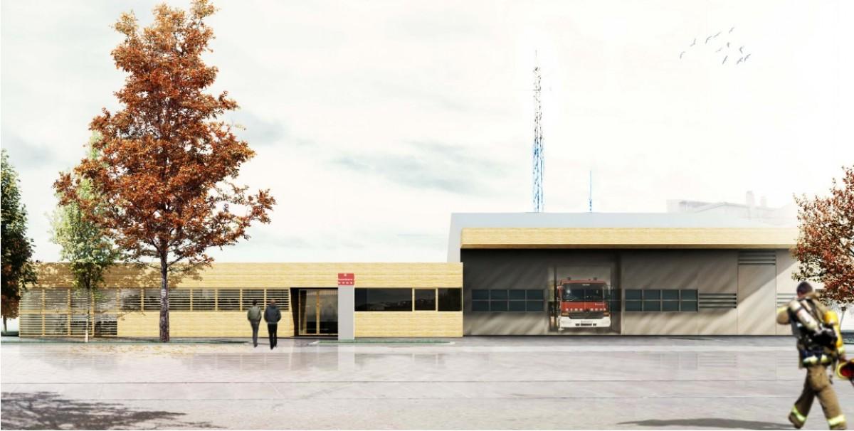 Representació visual de com quedarà el nou parc de bombers de Solsona