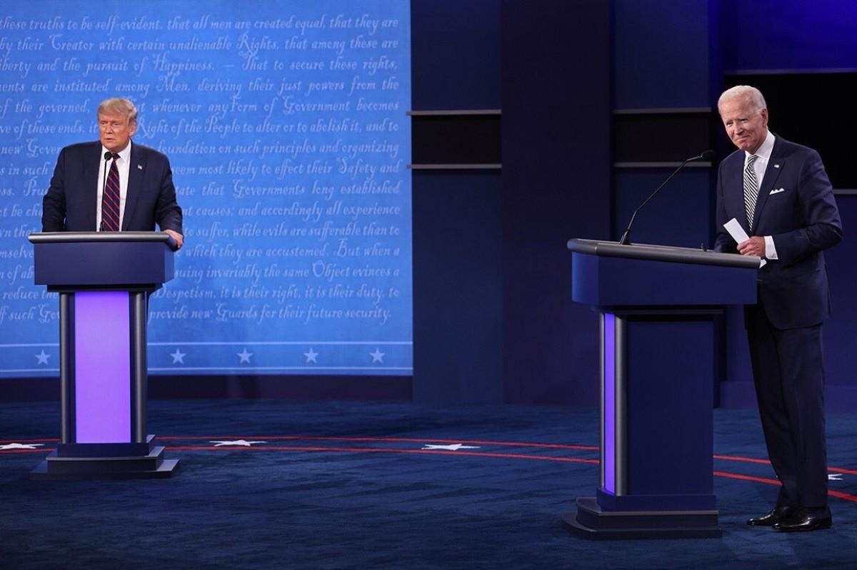 Donald Trump i Joe Biden al debat d'aquest divendres