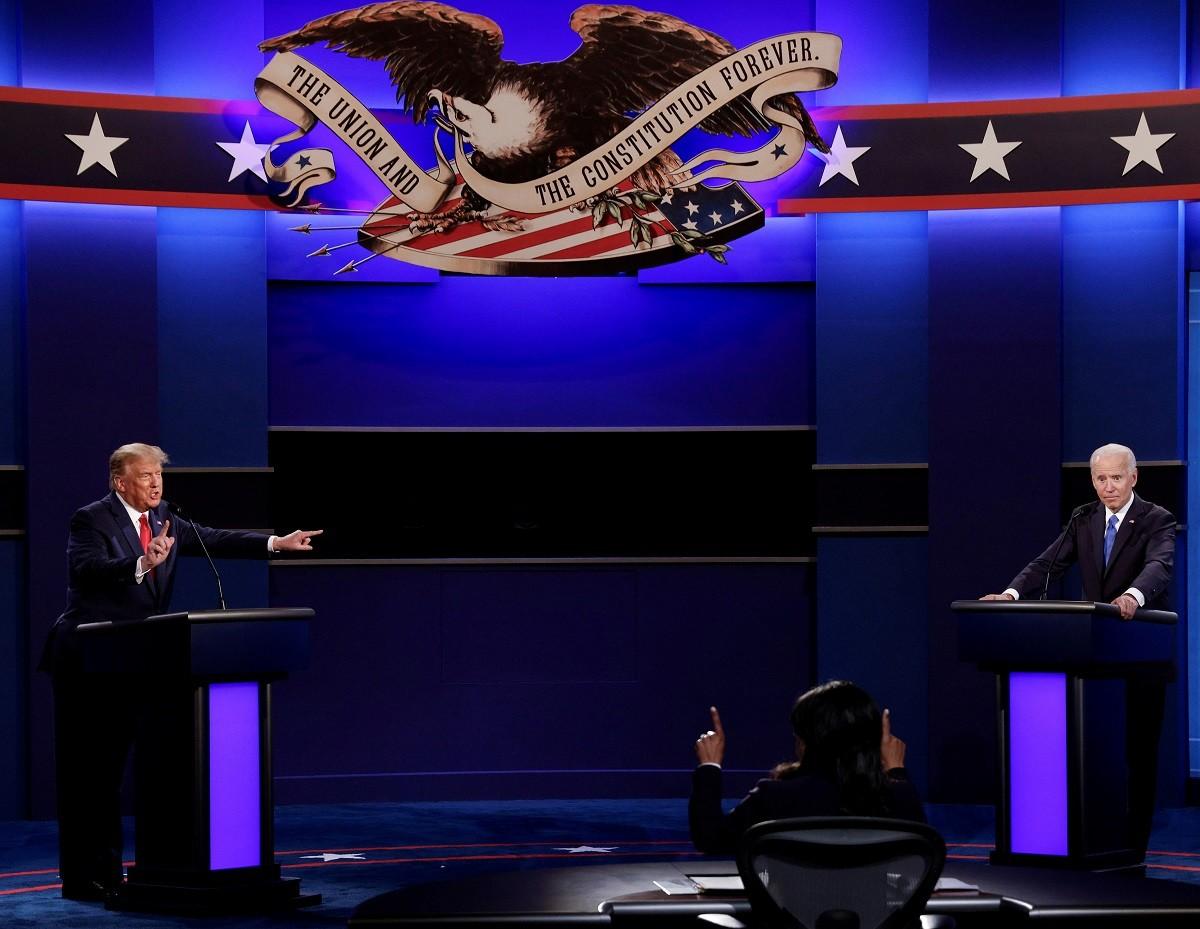 Trump i Biden, durant el seu darrer debat.