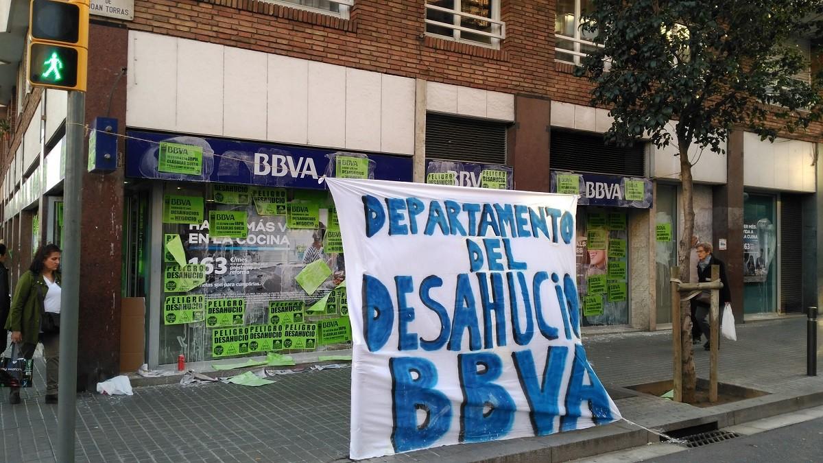 L'ocupació de l'oficina del BBVA, el 2 de març del 2017