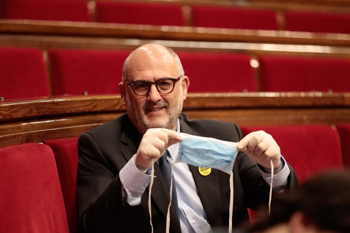 Eduard Pujol, en una imatge al Parlament