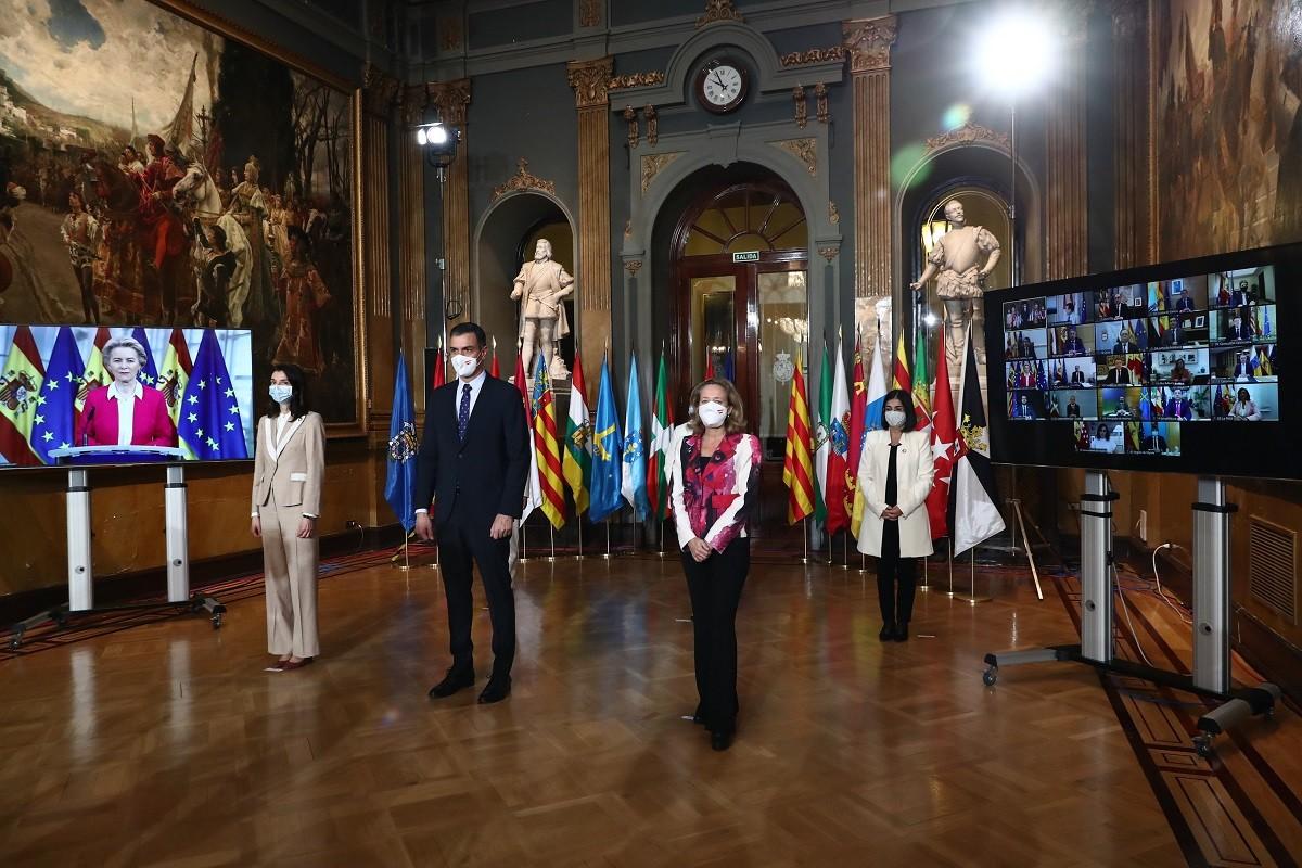 El president Pedro Sánchez, a la conferència de presidents d'aquest dilluns