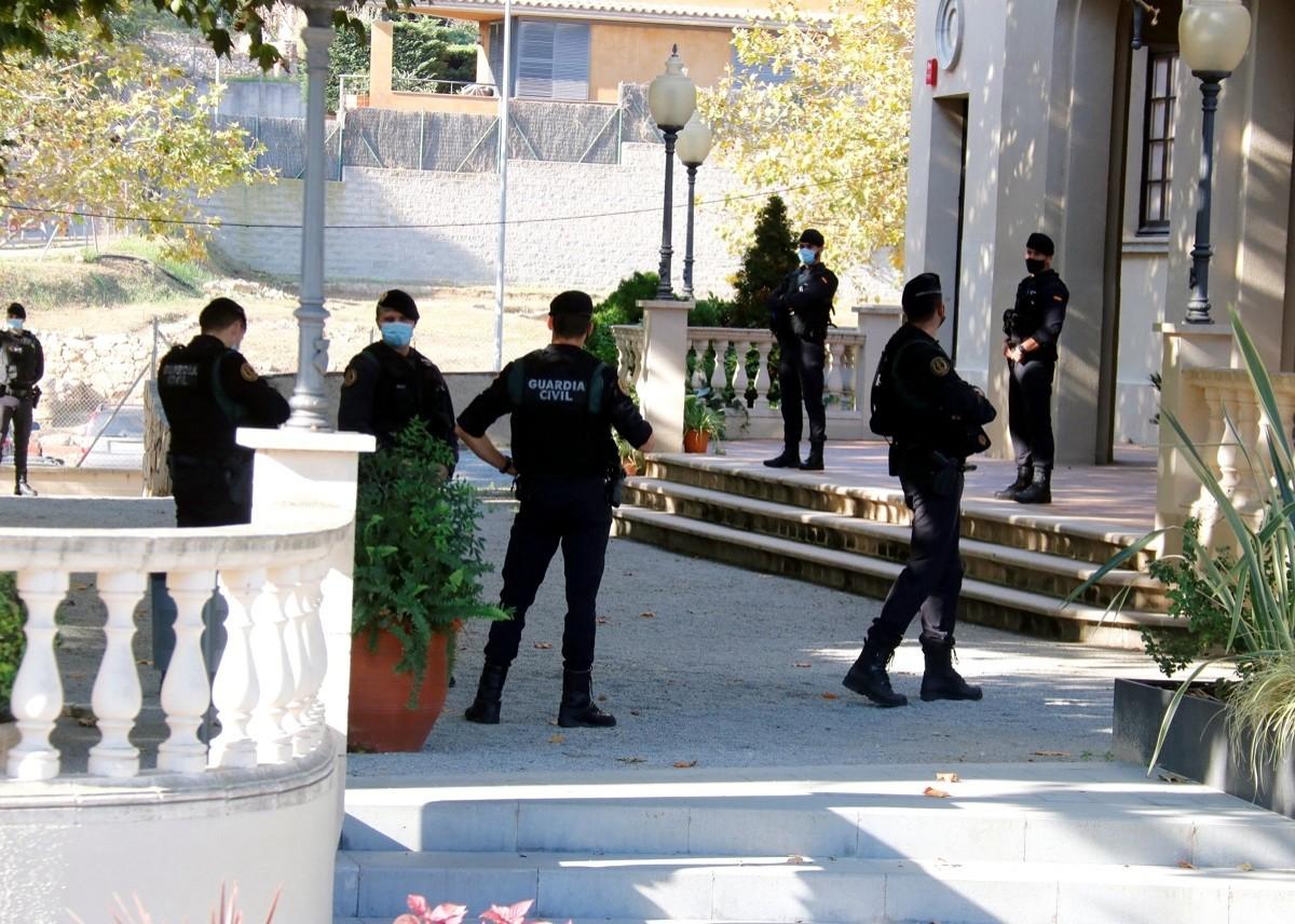 Operació de la Guàrdia Civil aquest dimecres contra el finançament del procés.