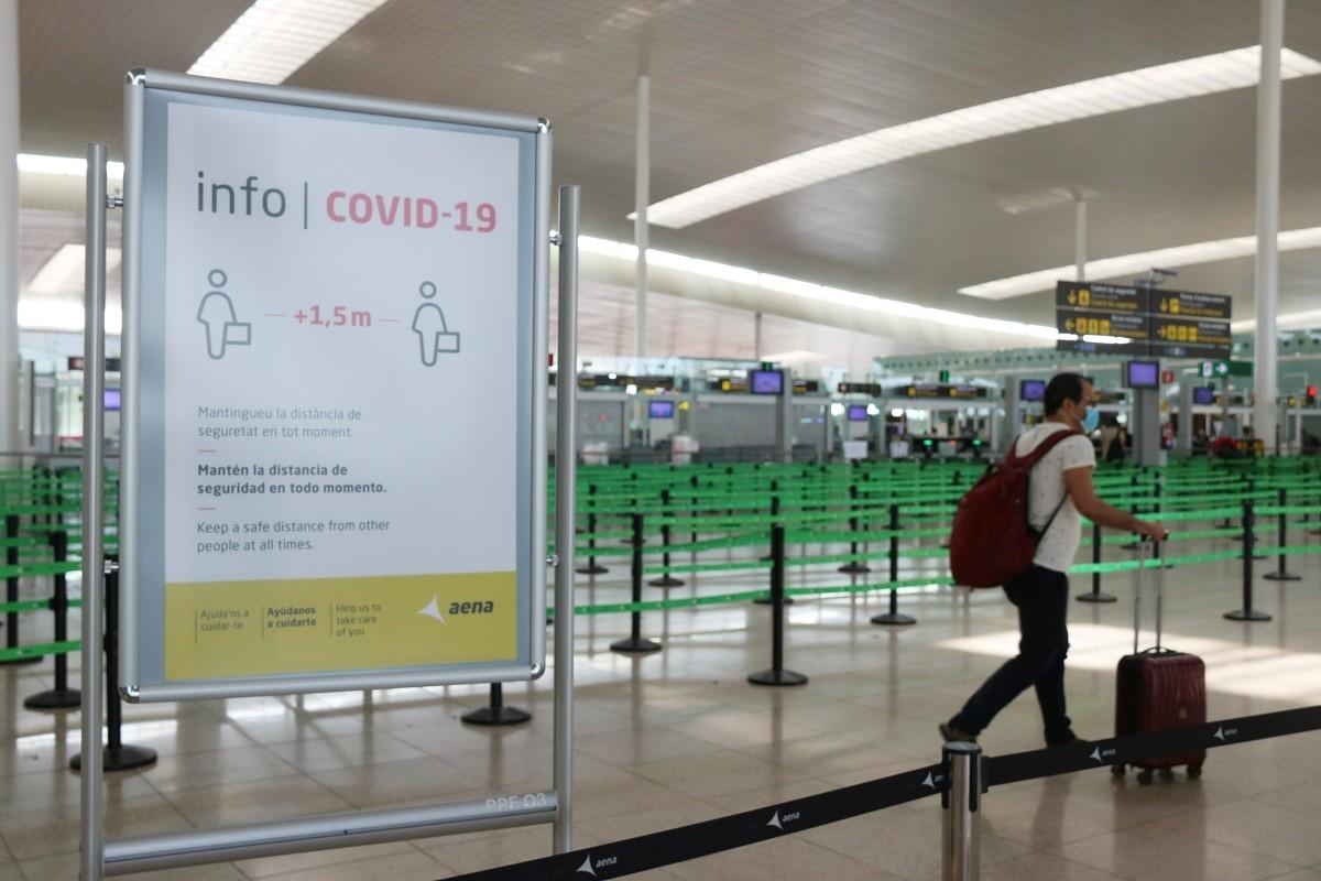 L'aeroport, durant la pandèmia