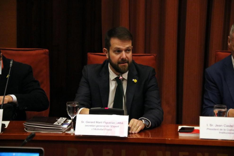 Gerard Figueras, durant una compareixença al Parlament, en imatge d'arxiu.
