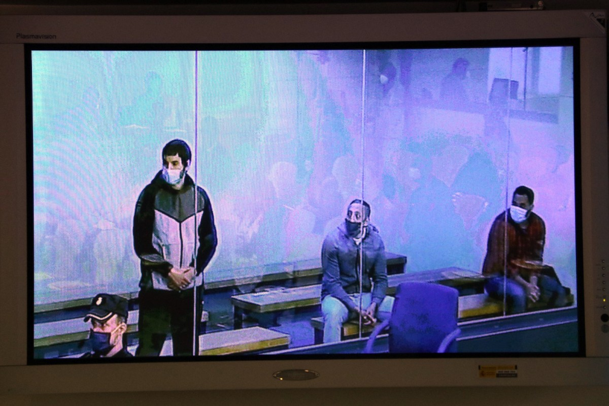 Els tres acusats del judici del 17-A
