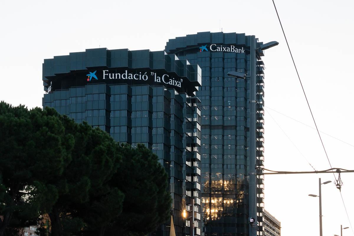Les torres de Caixa Bank a l'avinguda Diagonal