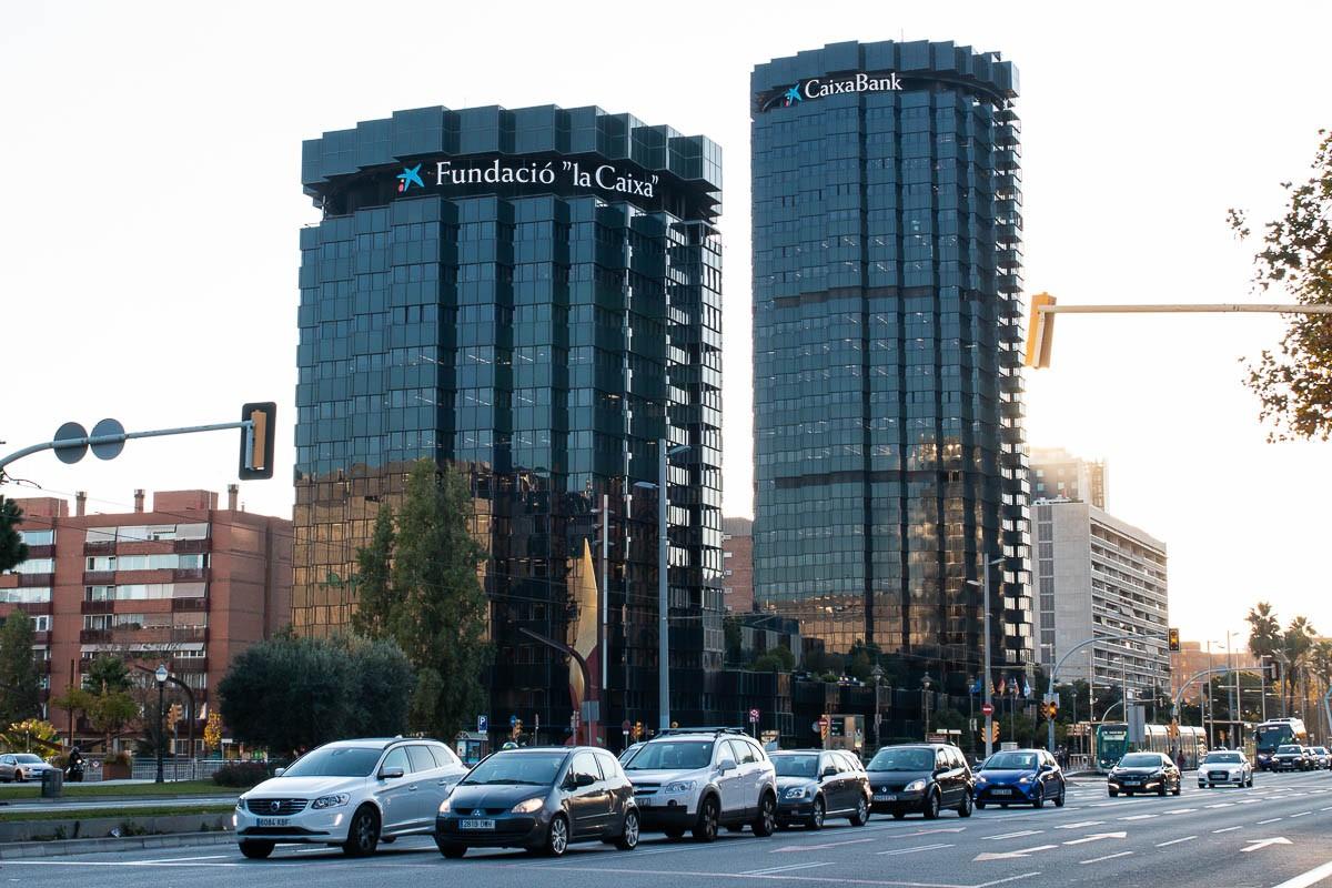 Les torres de CaixaBank a la Diagonal de Barcelona.