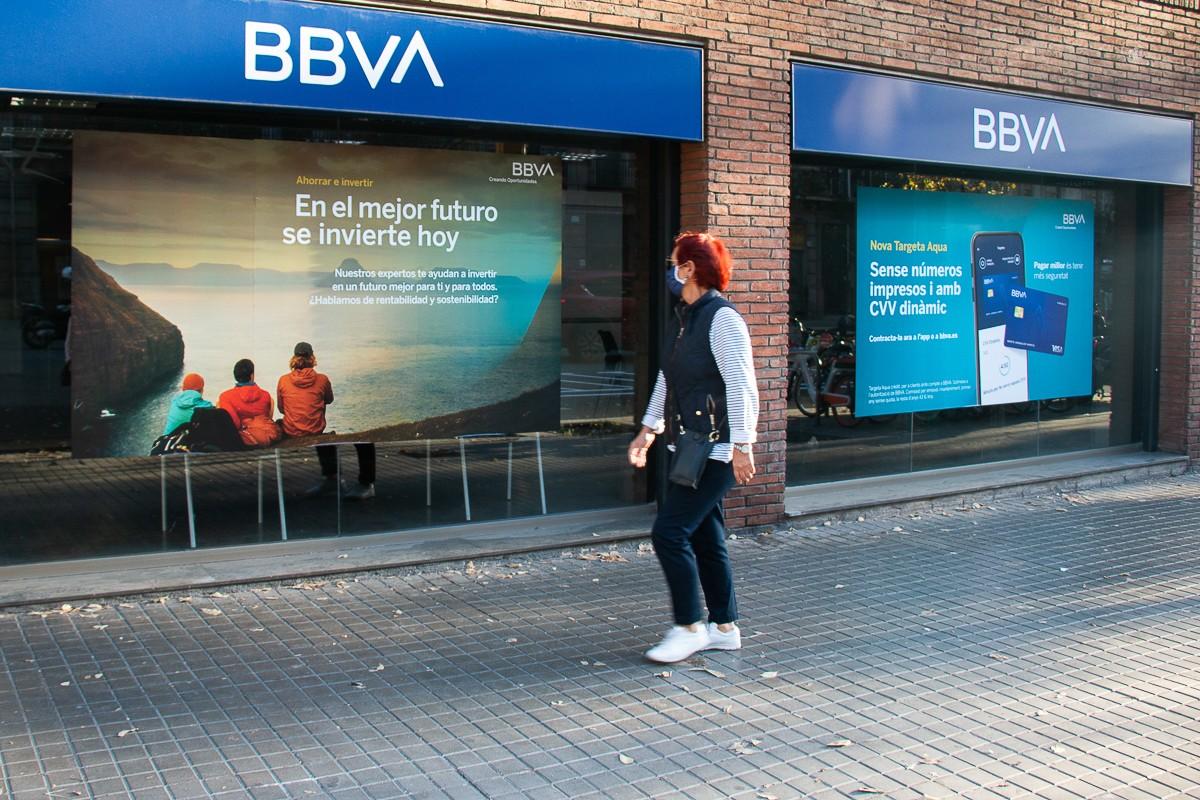 Una oficina del BBVA a Barcelona