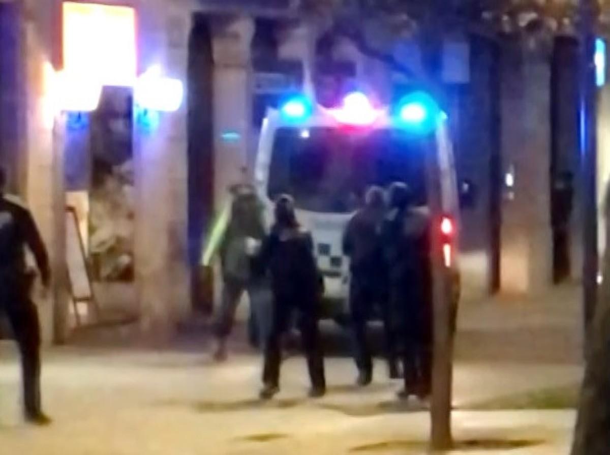 Una imatge del tiroteig al passeig de Sant Joan