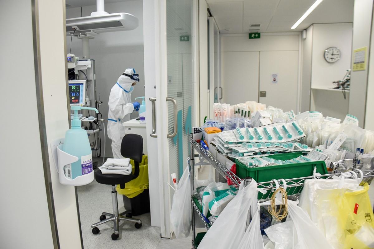 Zona Covid d'un hospital