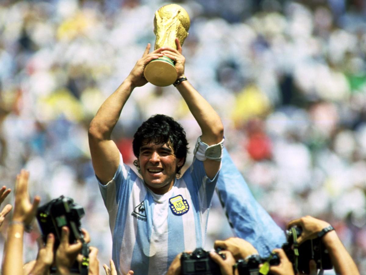 Maradona, en la victòria del Mundial de 1986