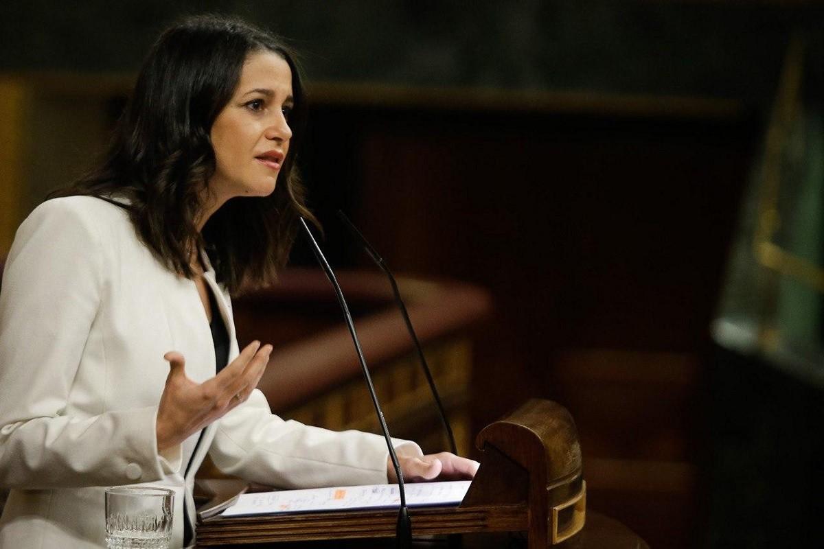 La líder de Ciutadans, Inés Arrimadas, al Congrés