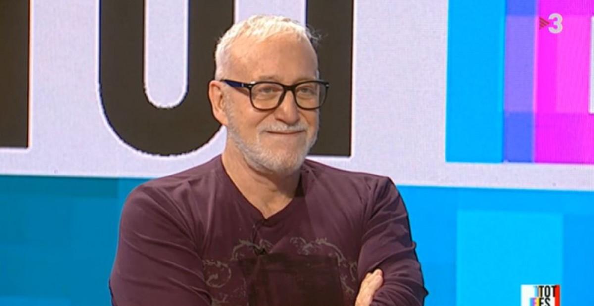 Josep Maria Mainat, durant l'entrevista