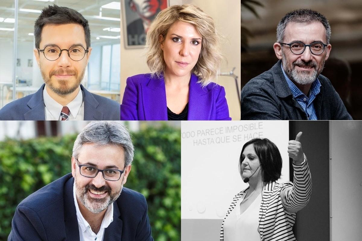Toni Aira, Verónica Fumanal, Antoni Gutiérrez-Rubí, Ignacio Martín Granados i Begoña Gozalbes Cutillas.