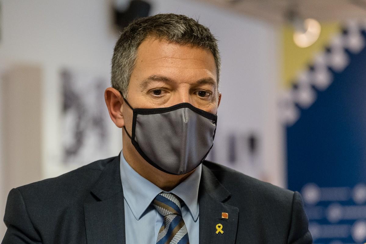 El conseller d'Interior Miquel Sàmper ha participat a la Junta Local de Seguretat de Vic