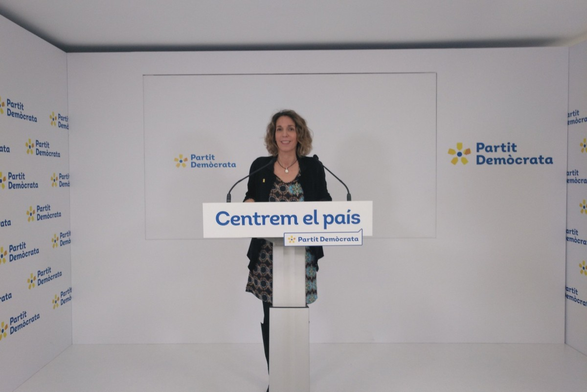 La candidata del PDECat a les eleccions del 14-F, Àngels Chacón.